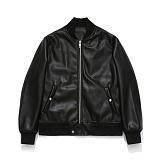 라퍼지스토어 - (Unisex) Buffing Leather Rib Jacket 레더자켓 가죽