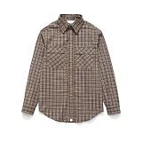 라퍼지스토어 - (Unisex) Check Shirt Brown Tartan 체크셔츠