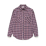라퍼지스토어 - (Unisex) Check Shirt Red Navy Tartan 체크셔츠