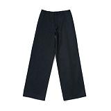 라퍼지스토어 - (Unisex) PS Cotton Wide Pants_Navy 와이드팬츠