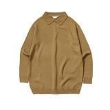 라퍼지스토어 - Basic Collar Knit_Olive 카라니트