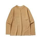 라퍼지스토어 - Basic Knit Tee_Camel 니트