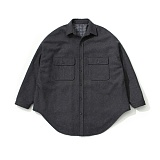 라퍼지스토어 - (Unisex) Melton Over Shirt Coat_Charcoal 셔츠코트