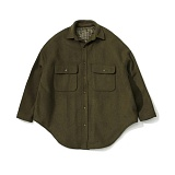 라퍼지스토어 - (Unisex) Melton Over Shirt Coat_khaki Brown 셔츠코트