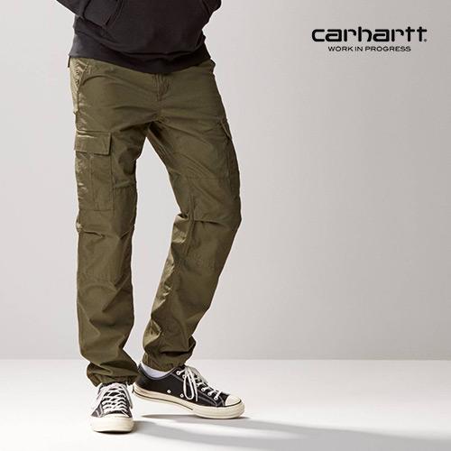 [칼하트WIP] CARHARTT WIP - Aviation Pant (Cypress rinsed) 에비에이션 워크팬츠 카고팬츠 팬츠