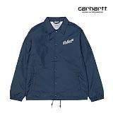 [칼하트WIP] CARHARTT WIP - Carhartts Coach Jacket (Steel Navy / White) 코치자켓 자켓