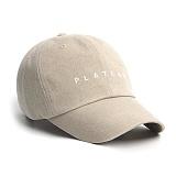 PLATEAU - UNDER PLATEAU LOGO CAP_BEIGE 볼캡
