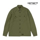[칼하트WIP] CARHARTT WIP - L/S Mission Shirt (Rover Green rinsed) 미션셔츠 긴팔남방