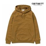 [칼하트WIP] CARHARTT WIP - Hooded Chase Sweatshirt (Hamilton Brown / Gold) 도톰 기모 무지 체이스 스��셔츠 후드 후드티