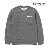 [칼하트WIP] CARHARTT WIP - College Script Sweatshirt (Dark Grey Heather / White) 칼리지 로고 스��셔츠 맨투맨 크루넥