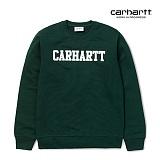 [칼하트WIP] CARHARTT WIP - College Sweatshirt (Parsley / White) 칼리지 로고 스��셔츠 맨투맨 크루넥