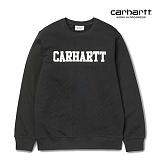 [칼하트WIP] CARHARTT WIP - College Sweatshirt (Black / White) 칼리지 로고 스��셔츠 맨투맨 크루넥