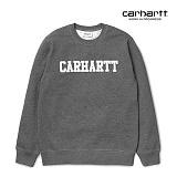 [칼하트WIP] CARHARTT WIP - College Sweatshirt (Dark Grey Heather / White) 칼리지 로고 스��셔츠 맨투맨 크루넥