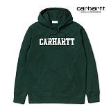 [칼하트WIP] CARHARTT WIP - Hooded College Sweatshirt (Parsley / White) 칼리지 로고 스��셔츠 후드 후드티