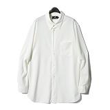 디씬 - 레이온셔츠- 화이트 긴팔셔츠 남방