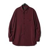 디씬 - 레이온셔츠- 와인 긴팔셔츠 남방