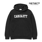 [칼하트WIP] CARHARTT WIP - Hooded College Sweatshirt (Black / White) 칼리지 로고 스��셔츠 후드 후드티