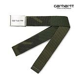 [칼하트WIP] CARHARTT WIP - Clip Belt Chrom (Camo Combat Green) 클립 벨트 크롬