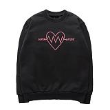 [슈퍼레이티브] superlative [7SMH04] LOVE VIBRATION 기모 맨투맨 - 맨투맨 - 5컬러