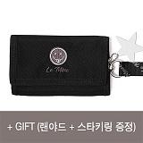 [르마인]Lemine - 스마일 월렛(그레이) LE25FDG 벨크로 지갑 찍찍이 삼단