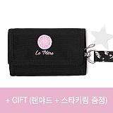 [르마인]Lemine - 스마일 월렛(핑크) LE25FPK 벨크로 지갑 찍찍이 삼단
