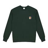 [위씨]WISSY [OVERSIZE] 비글 포인트 자수 맨투맨_그린 (WDTS207) 크루넥 스��셔츠