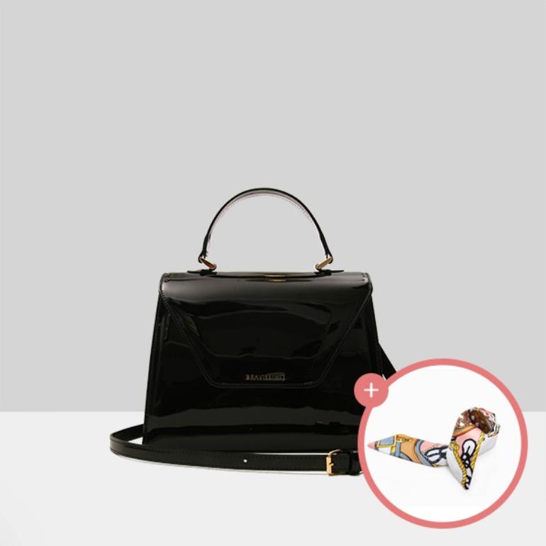 (★스카프증정)[브라비시모][아이콘/이영아착용] 마리네트(Marinette) - Black 토트백 크로스백 여성가방