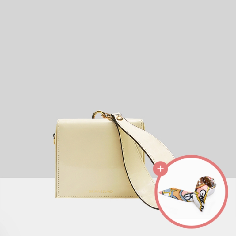(★스카프증정)[브라비시모][아이콘/배누리/문가영착용] 리안(Lianne) - Ivory 토트백 여성가방