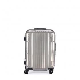 [로젤] 코즈모스 TSA 기내용 22형/55cm PC 다이얼형 프레임 캐리어(CF-1375-2) - 메탈 실버