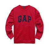 GAP 갭 로고 맨투맨 안감기모 긴팔티셔츠 409012_03 레드 남녀공용 정품 국내배송