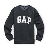 GAP 갭 로고 맨투맨 안감기모 긴팔티셔츠 409013_02 차콜 남녀공용 정품 국내배송