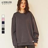 [엠블러]AMBLER CLASSIC 무지 맨투맨 티셔츠 MTM101-6COLOR 크루넥 기모 세미오버핏