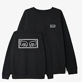[오베이]OBEY - OBEY EYES CREW 112480010 (BLACK) 자수 등판로고 기모 스��셔츠 맨투맨 크루넥