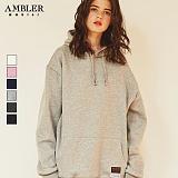 [엠블러]AMBLER CLASSIC 무지 후드 티셔츠  HTM101-6COLOR 후드티 기모 세미오버핏