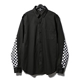 [다소울]DASOUL - 체커라인 긴팔셔츠 - BLACK