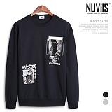 뉴비스 - 힙스터 나염 맨투맨 티셔츠 (NE062MT)