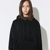 텐블레이드 - 남여공용 루즈핏 후리스 웜 후드티_블랙