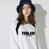 텐블레이드 - 남여공용 아플리케 로고 레글런 맨투맨_화이트