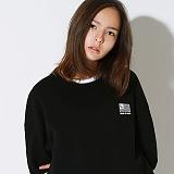 텐블레이드 - 남여공용 플래그 로고 맨투맨_블랙