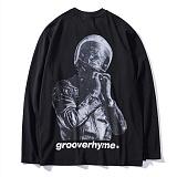 [그루브라임]GROOVERHYME 2017 BIKE MAN PRINT T-SHIRTS (BLACK) [GTS010F33BK] 프린트 긴팔티 쭉티