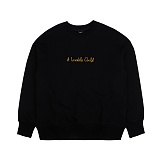 [아이넨]EINEN-Child Dropshoulder Sweatshirts Black 맨투맨 크루넥 스��셔츠