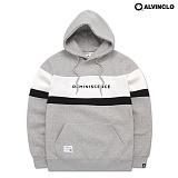 [앨빈클로] AVH-180 모노톤 배색 후드 티셔츠