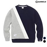 [앨빈클로] MAR-673N 3배색 맨투맨 티셔츠