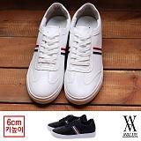 [에이벨류] 남성 럭스 라인 모던 스니커즈(블랙.화이트) 810-톰보이 남자 신발 단화 슈즈 가을