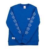 [더블콤보] CHERRY BLOSSOM MTM (COBALT BLUE) 기모 맨투맨 크루넥 스웨트셔츠