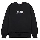 [센스스튜디오] LAZY MTM (BLACK) 맨투맨 크루넥 스웨트셔츠