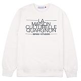 [센스스튜디오] LA MAISON MTM (IVORY) 맨투맨 크루넥 스웨트셔츠