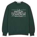 [센스스튜디오] LA MAISON MTM (GREEN) 맨투맨 크루넥 스웨트셔츠