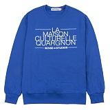 [센스스튜디오] LA MAISON MTM (COBALT) 맨투맨 크루넥 스웨트셔츠