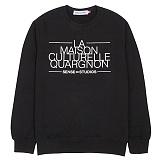 [센스스튜디오] LA MAISON MTM (BLACK) 맨투맨 크루넥 스웨트셔츠